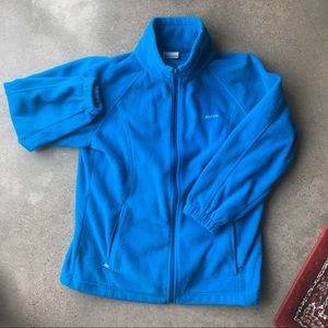 Columbia Vibrant Blue Fleece Zip Up Jacket